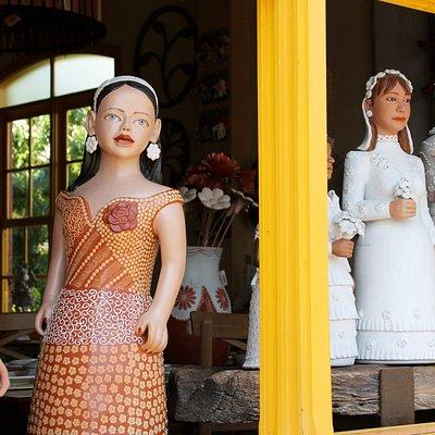 Bonecas do Vale do Jequitinhonha na Galeria Brasileirinho.