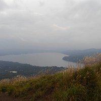 明神山から山中湖