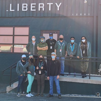 The team, masked up and ready to help!
