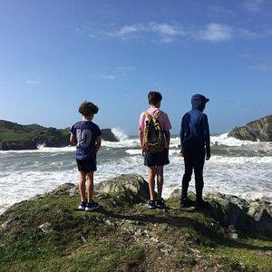 Choppy day at Porth Dafarch