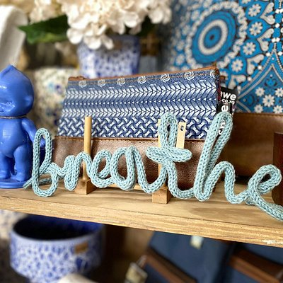 A selection of blue quirky decor pieces