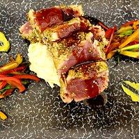 Wasabi crusted Yellowfin Tuna at Poseidon Del Mar
