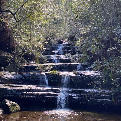 A spectacular terraced waterfall within Terrace Falls Reserve in Hazelbrook, Blue Mountains. Very much loved by the local community and visitors.