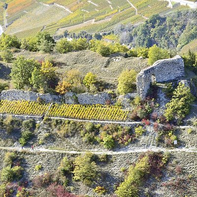 Ruines du Château de la Soie (Savièse/Granois - Valais)
