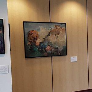 Detalle de la exposición Paisajes, Caminos, Silencios. El Bajo Aragón. De Miguel Navarro Centelles. 2020.