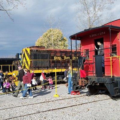 Enjoy exhibits of historic freight cars in the Upper Yard.