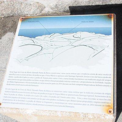Cartel informativo sobre las dos piedras que forman el conjunto.