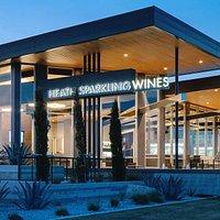 Heath Sparkling Wine Tasting Room Located in Fredericksburg, Tx.