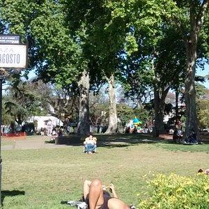 Plaza 25 de Agosto: Barrio Villa Ortùzar, Ciudad de Buenos Aires- Argentina 2020.