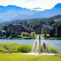 Etang de la Moubra à Crans-Montana (Valais - Suisse)
