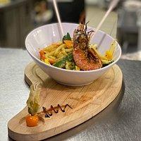 Noodles aux crevettes curry coco