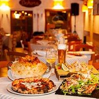 I nostri piatti forte! Chitarra del Casale, Fritto misto, pizza alla Norma con melanzane fritte, grigliata di pesce.