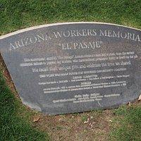 """Arizona Workers Memorial """"El Pasaje""""."""
