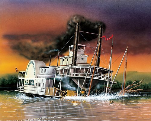 The steamboat Arabia hits a tree snag and sinks in the Missouri River in 1856. All passengers survive, but the cargo is lost until 1988.