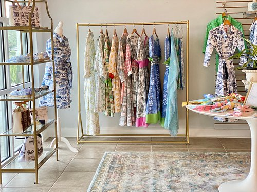 Timeless chic style and comfort characterize Susan Albright's dresses.