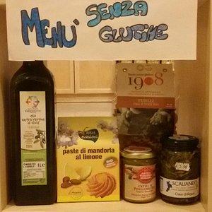 Alcuni prodotti senza glutine.