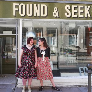 Found and Seek, a quirky shop full of style and unique charm, selling a mix of handmade, vintage and antique items. We are on King street in Carmarthen (number 51)  and online at www.foundandseek.co.uk