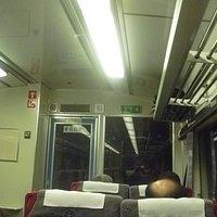 常紋トンネル通過中の「オホーツク1号」車内