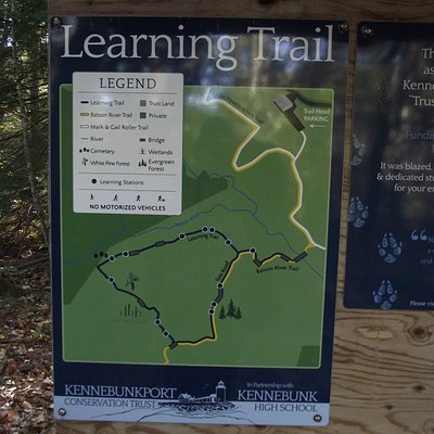 ME - KENNEBUNKPORT - EMMONS PRESERVE – MAP OF THE LEARNING TRAIL
