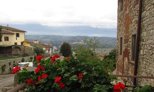 veduta dalla Casa Petrarca di Incisa Valdarno