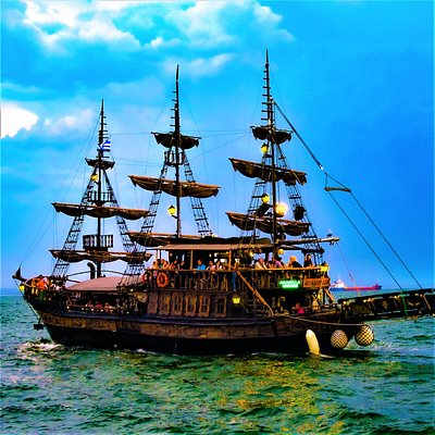 Arabella Cruise Bar. The one and only Thessaloniki's pirate ship. It makes 30 minute cruises and operates as cafe and bar day and night