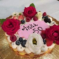 Cream Tarte rivisitata - fiori veri