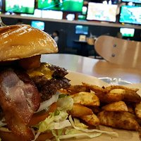Cheese Curd Bacon Burger