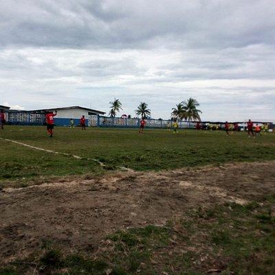 los miembros de nergala en el comarcal de futbol del año 2019 en la comunidad sede Sasardi Mula.
