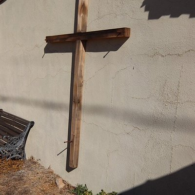 The cross on the wall