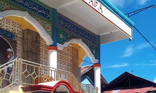 Colourful mosque