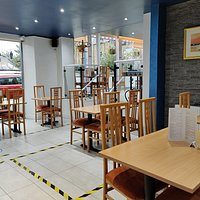 All social distancing measures are followed in our restaurant.