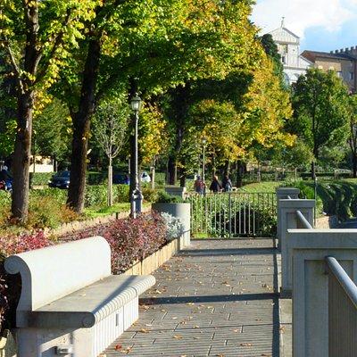 Il belvedere: lato verso sud (in alto si intravede la basilica di San Miniato