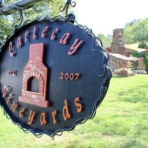 Cartecay Vineyard's Sign at Entrance