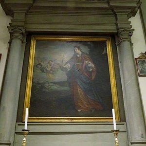 Tela seicentesca di Santa Cristina; opera di Francesco Curradi (terzo altare di sx)