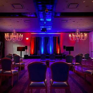 Delirious Comedy Club's  new socially distanced showroom.  Delirious Comedy Club brings nightly laughter to downtown Las Vegas Thursday - Sunday at 8 & 10pm inside the Downtown Grand Hotel & Casino.