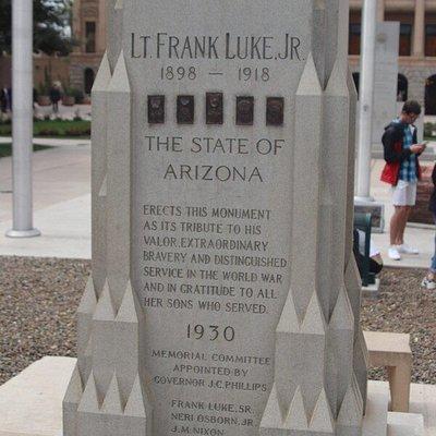 The heroe LT Frank Luke JR The State of Arizona