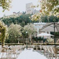 Ruta del Azafran`s terrace with views to Alhambra