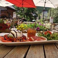 La salade mozzarella Burrata de l'été