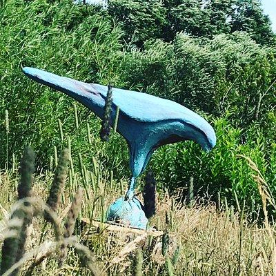 Smukke skulpturer/havekunst i den store have