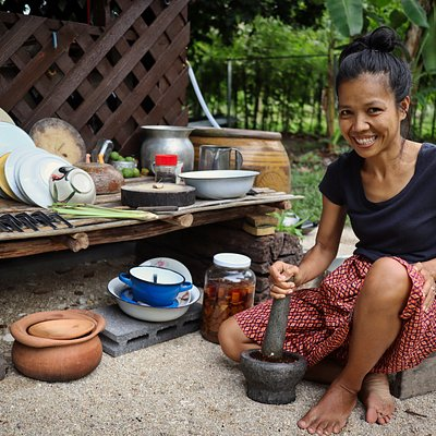 mortar, pestle and a smile