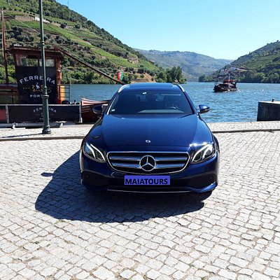 Mercedes car in Douro Valley.