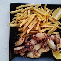 Fresh Fried squid