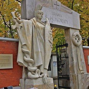 Brama Świętej Honoraty - Główna brama na Cmentarz Powązkowski