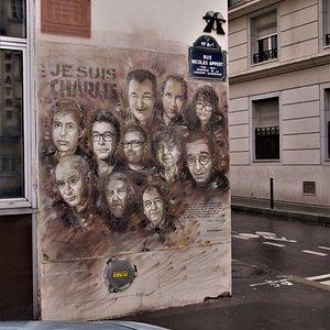 La fresque du 10 rue Nicolas Appert