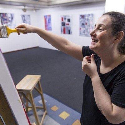 Natalia Gromicho live painting