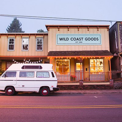Wild Coast Goods is in the heart of town, right on highway 101.