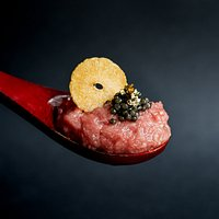 Toro Tatar with caviar topped with Gold