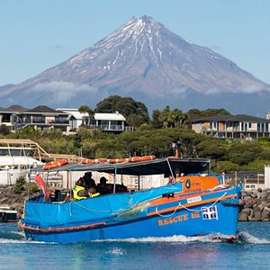 if you're lucky you may get a great view of mount Taranaki