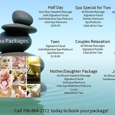 Jolie offers packages for everyone!