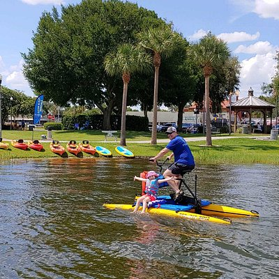 Experience downtown Tavares on the waterfront by enjoying direct water access through our kayak, paddle board, and water bike rentals!